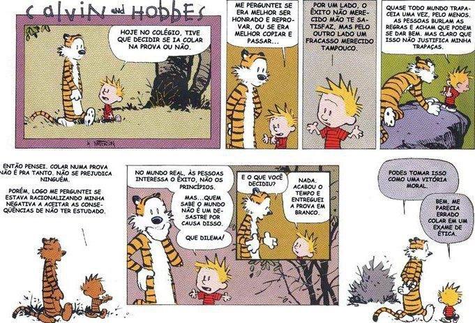 Etica e moral - Calvin e Hobbes